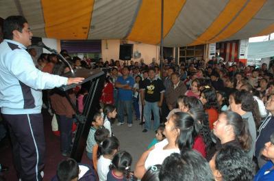 Por gestión del GSPEM, el alcalde Gutiérrez Cureño pavimenta la calle Lindavista en La Mesa, Xalostoc; la regularización de la colonia un hecho, anuncia Cruz Ahumada