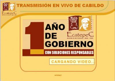 Un Cuento Chino la transmisión de las Sesiones de Cabildo del Municipio de Ecatepec.