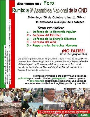 Convencionistas lopezobradoristas celebran hoy  un foro rumbo a la 3 Asamblea Nacional de la CND