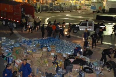 Ecatepec envió 40 toneladas de víveres a Tabasco