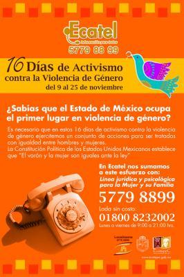 """Se suma Ecatel a la campaña mundial """"16 días de activismo contra la violencia de género"""""""