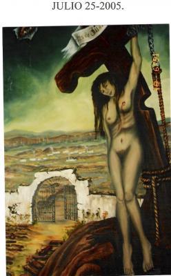 Luego de exhibirse en todo el país, El Cuadro Peregrino, pintura sobre las muertas de Juárez regresa a Chihuahua