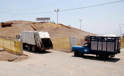 El acceso al vertedero municipal es propiedad de los ejidatarios de Santa María Chiconautla