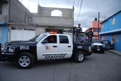 Las policías municipal y estatal implementan operativos sorpresa en Ecatepec