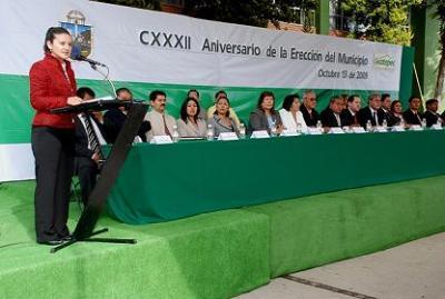 Ecatepec celebró el 132 aniversario de su erección municipal.