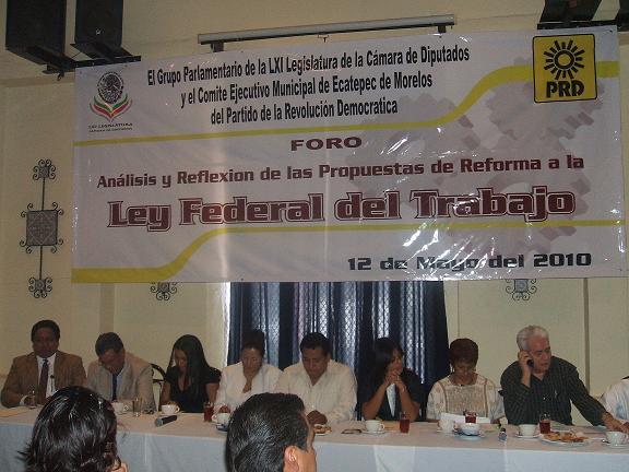 El PRD celebró en Ecatepec un Foro sobre la Reforma Laboral