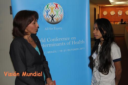 Jóvenes apoyados por Visión Mundial se comprometen a trabajar sobre los Determinantes Sociales de la Salud