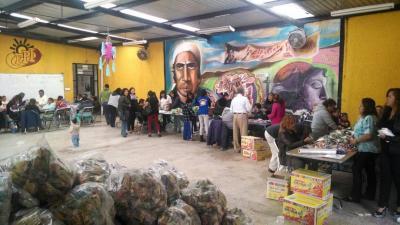 El Diputado Octavio Martínez Vargas organiza posadas en Ecatepec