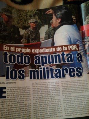 Sobre los 43 normalistas desaparecidos, todo apunta que fueron los militares, señaló el Diputado del PRD, Octavio Martínez Vargas