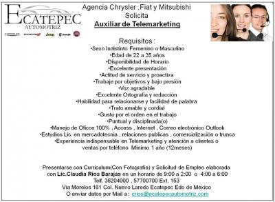 Vacante Atencion a clientes y telemarketing